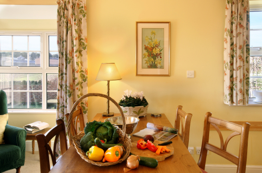 Dining Kitchen, Dovecot Cottage, Outchester & Ross Farm Cottages, Northumberland