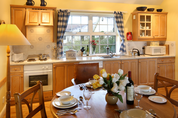 Kitchen, Eiderduck Cottage, Northumberland