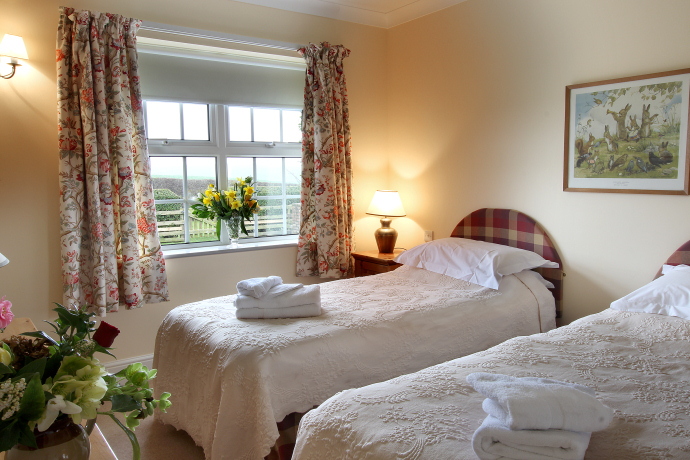Twin Bedroom, Hedgehope Cottage, Northumberland