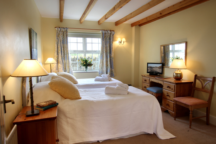 Twin Bedroom, Oystershell Cottage, Northumberland